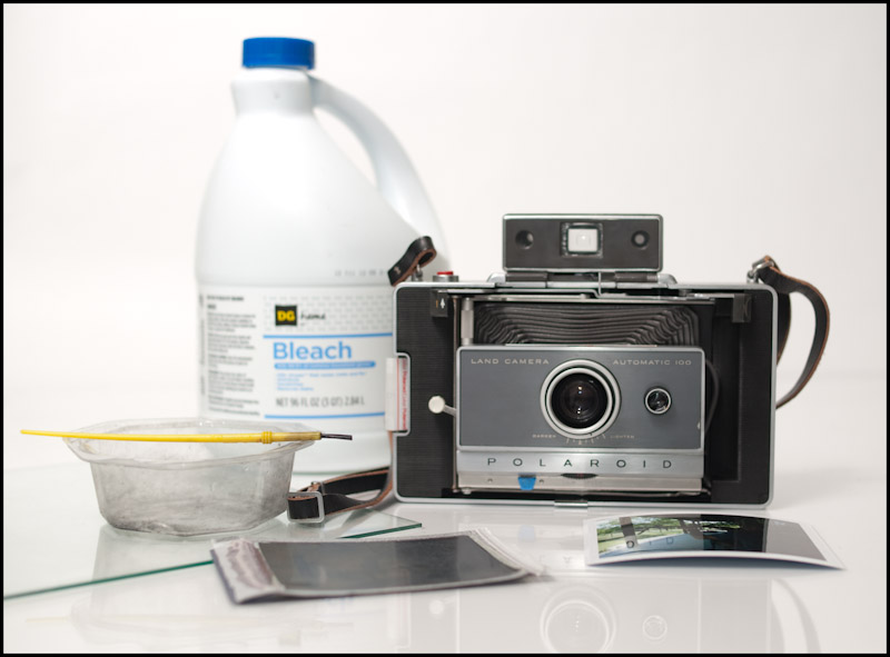 Materials needed to salvage a negative from FP-100C