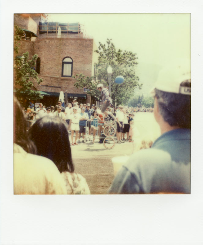 Three-wheeled Unicycle - Aspen 4th of July Parade 2012- Impossible Project PX-70 COOL