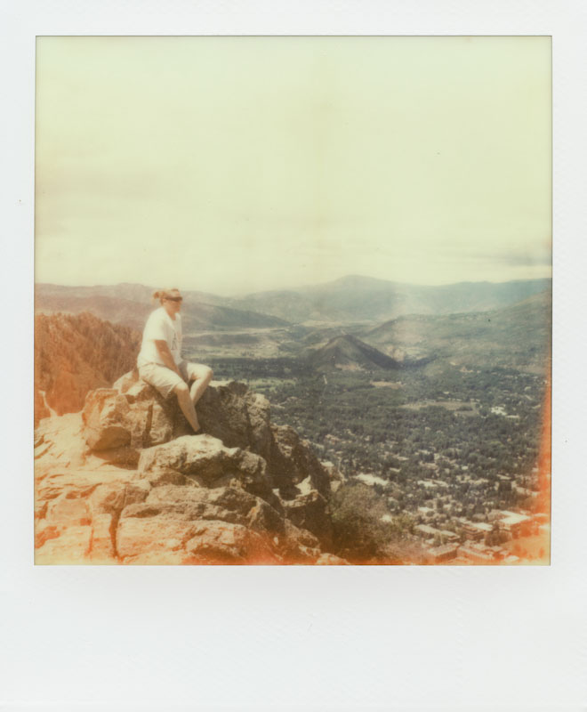 On top of The Yute - Aspen, CO - Impossible Project PX-70 COOL