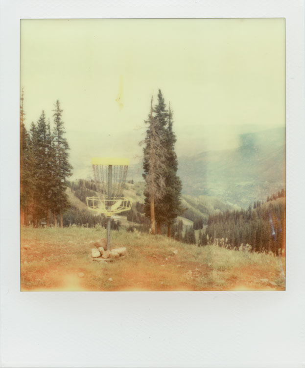 Aspen Mountain Disc Golf Course - Impossible Project PX-70 COOL
