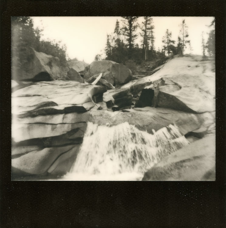 Photo: Synthia Goode - The Grottos - Spectra SE - Impossible Project Black Frame PZ600